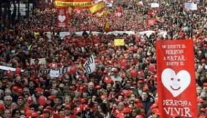 протесты в Испании по поводу нового закона об абортах