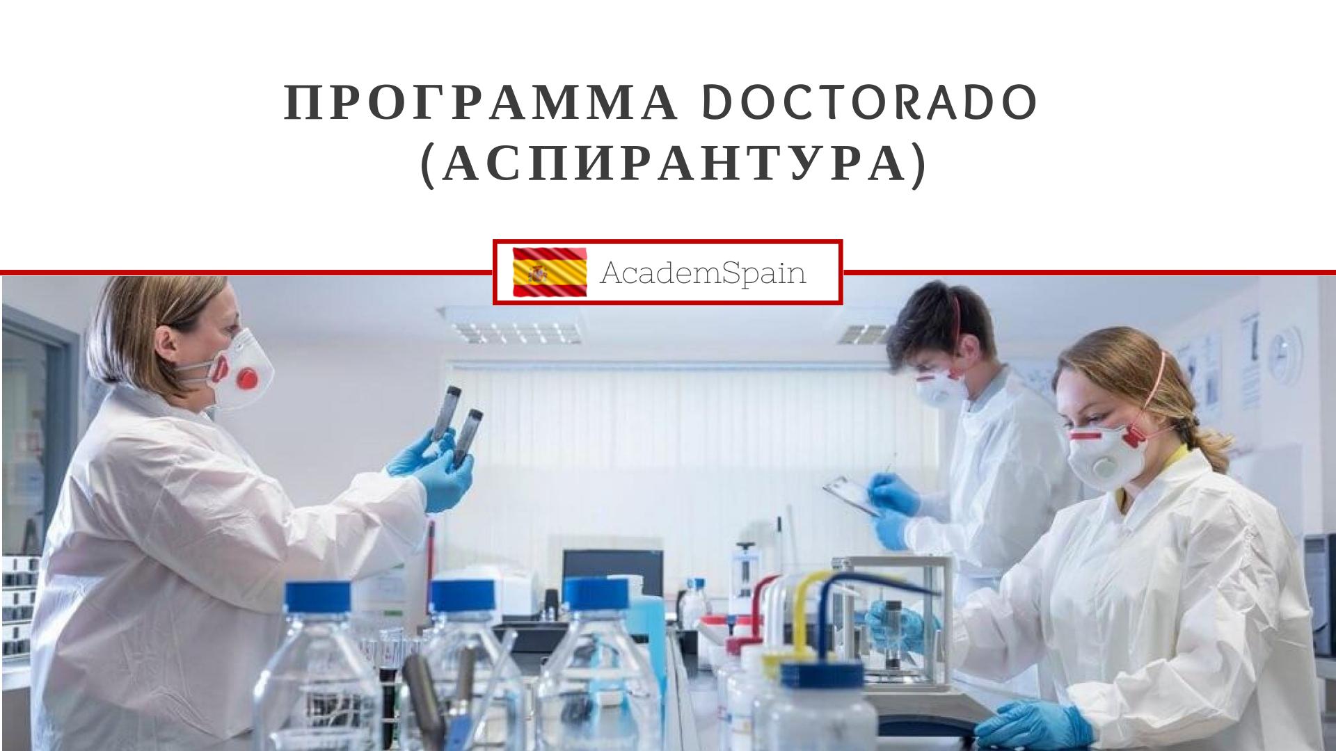 Программа Doctorado (Аспирантура)